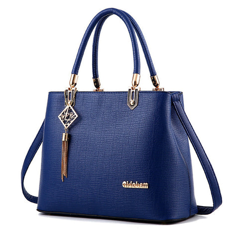 Blue Bite Leather Handbag
