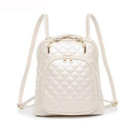 Quilted Beige Backpack