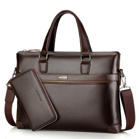 Men Leather Handbag with Wallet