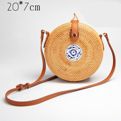 Handmade Knitted Straw Summer Bag