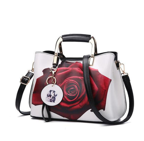 Elprine Painted Shoulder Tote Bag