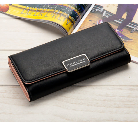 Vendywow 3 Fold Leather Wallet