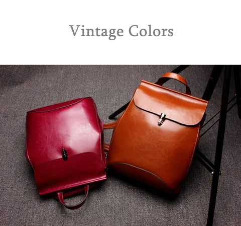 Shinefine Leather  Backpack