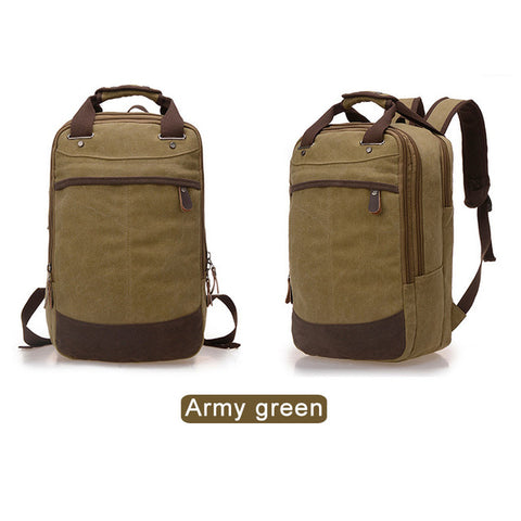 Man Canvas Travelig Backpack