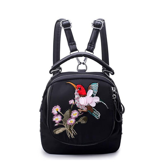 Flowbird Embroidery Backpack
