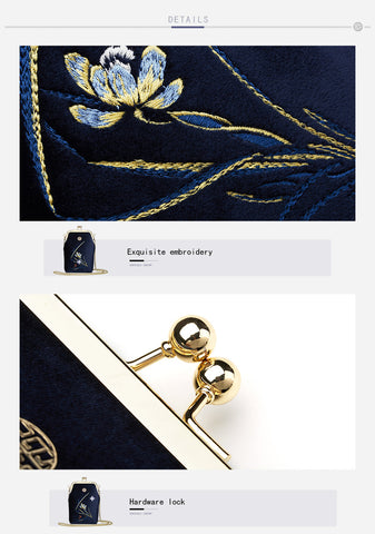 Premium Embroidery Shoulder Bag