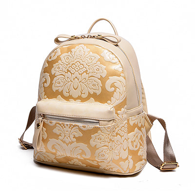 Floral Emboss Girls Backpack