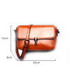 Image of Brown B Leather ladies' crossbody bag