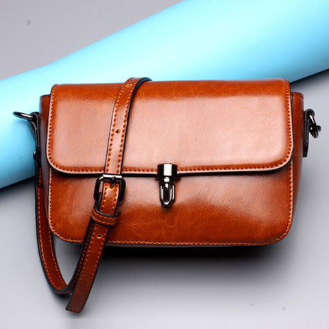 Brown B Leather ladies' crossbody bag