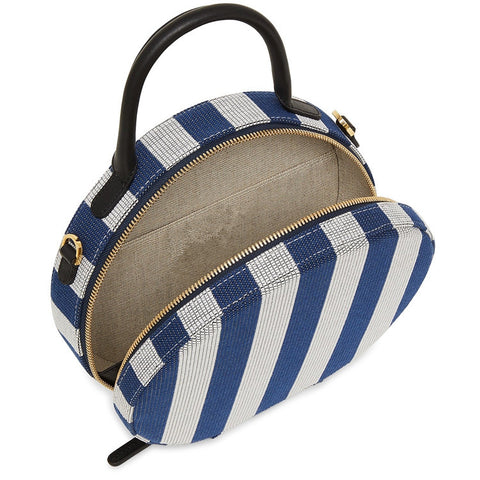Women Striped Cross Body Round Bag