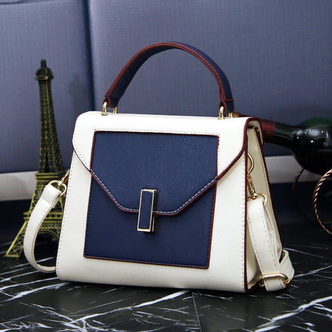 Luxury  Blue and White Patchwork Bag