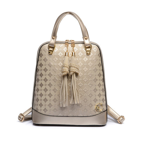 Goldescent Embossing Backpack