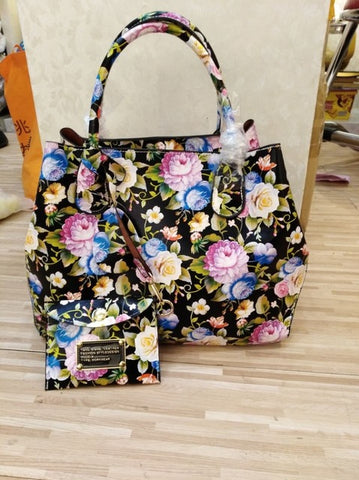 Rainbow Floral Tote Bag