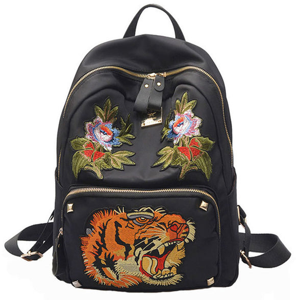 Embroideried Tiger Roar Backpack