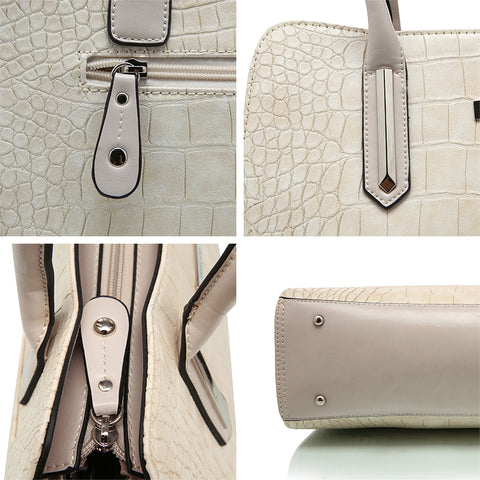 Leather Beige Designer Handbag