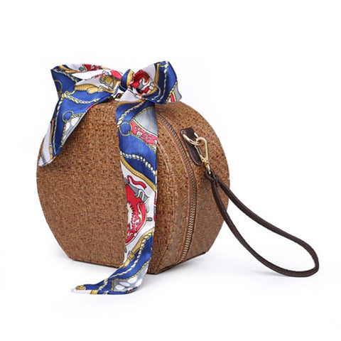 Hand Woven Round Rattan Bag