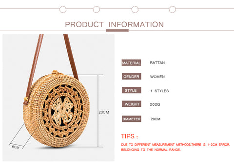 Summer Hand Woven HQ Straw Bag
