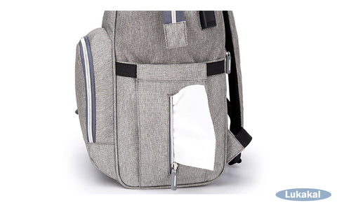 USB Interface Baby Diaper Bag Large