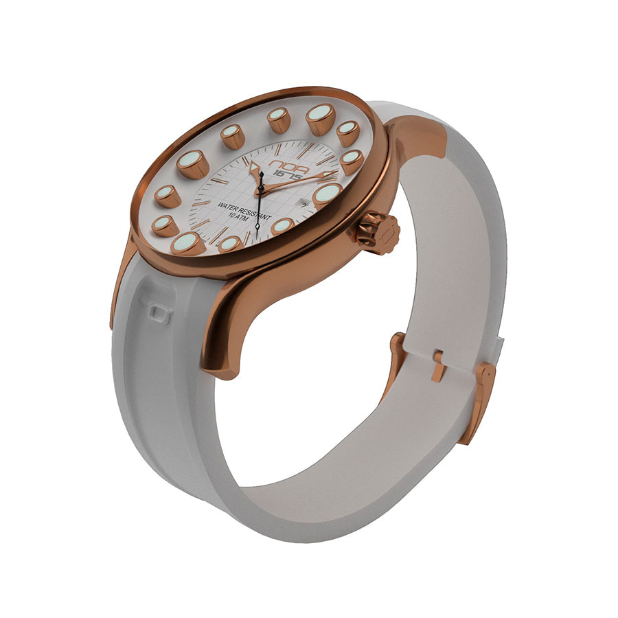 Ladies Gold Plated Quartz - Diameter 36mm - NOA Watch