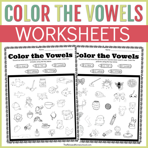 Vowels - Color By Vowel Activity