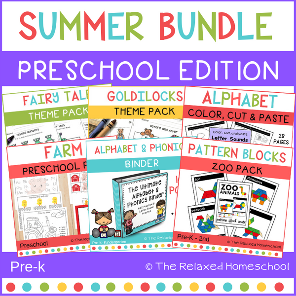 Summer Preschool Bundle