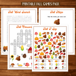 Fall Games & Printables