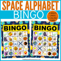 Space Alphabet BINGO