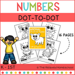 Dot - To - Dot Number Practice Sheets - ANIMAL THEMED SET
