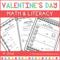 Valentine's Day Math and Literacy - NO PREP!