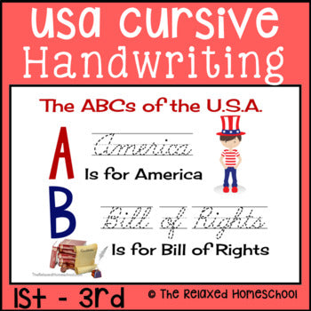 Cursive Handwriting Practice Worksheets - USA