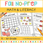 Fall Math and Literacy NO-PREP