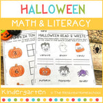 Halloween Math & Literacy Pack - Kindergarten
