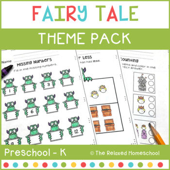 Fairy Tale Preschool Theme Pack - Kindergarten