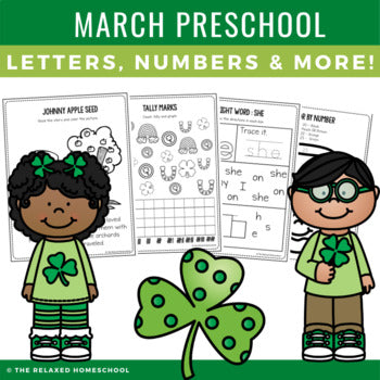 March Preschool Packet