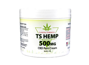 TS Hemp Clinical Strength Pain Relief Cream 500 mg