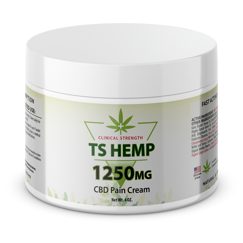 TS Hemp Clinical Strength Pain Relief Cream 1250 mg