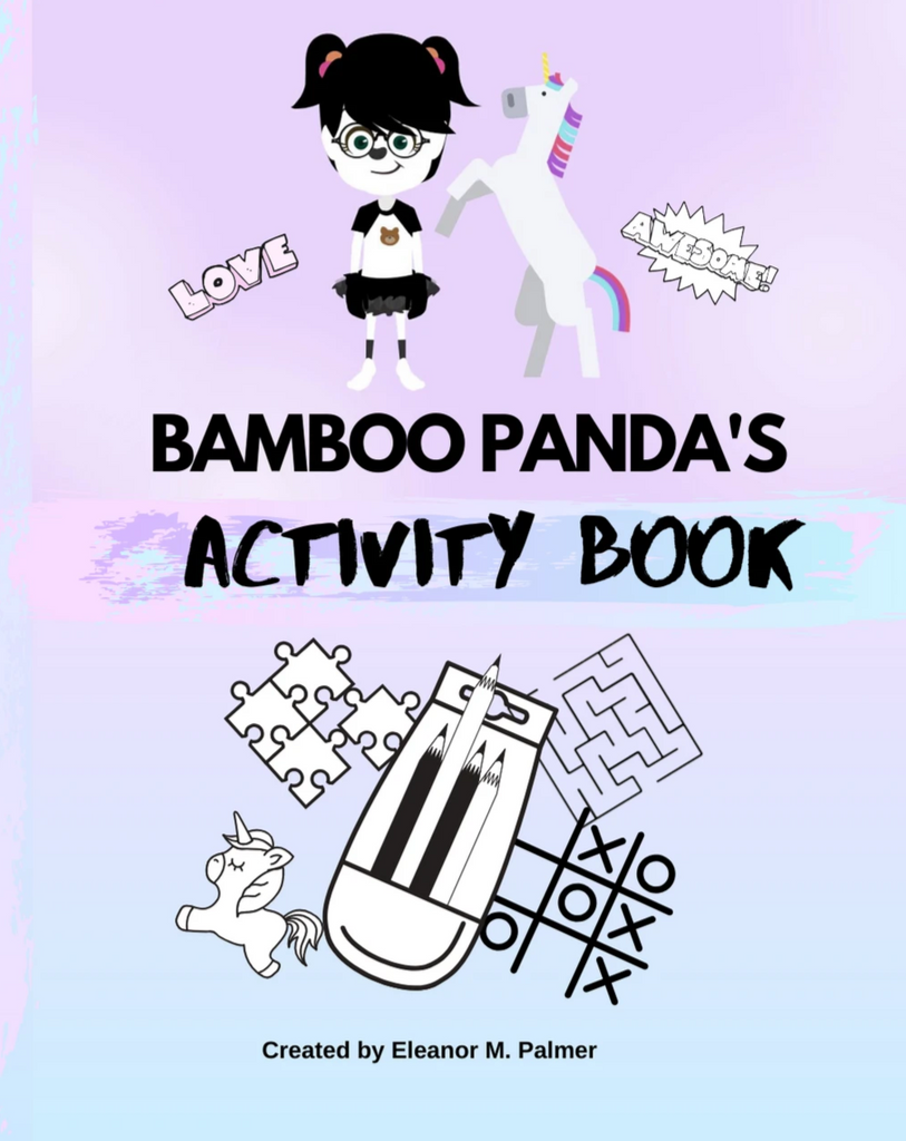 Kids book, activity book, coloring book, bamboo panda, panda, unicorn
