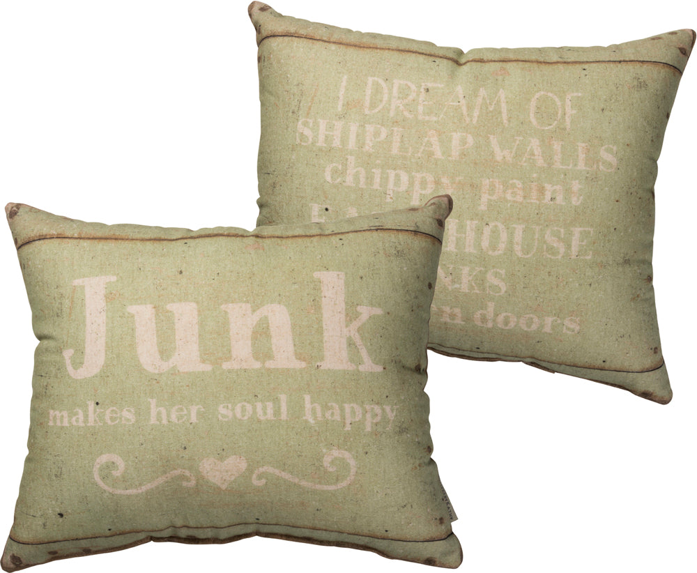 I Dream of Shiplap Pillow Insert Included