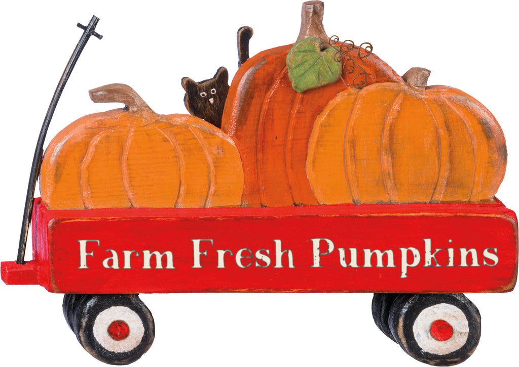 Red Wagon Pumpkins Chunky Sitter
