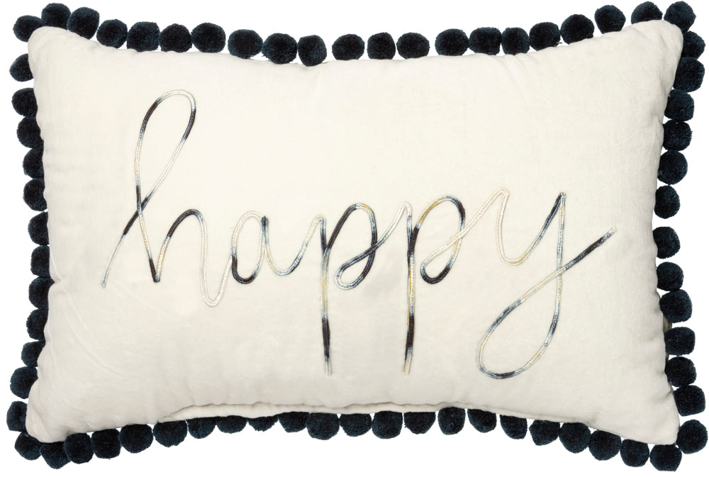 Happy Fringe Pillow Insert Included