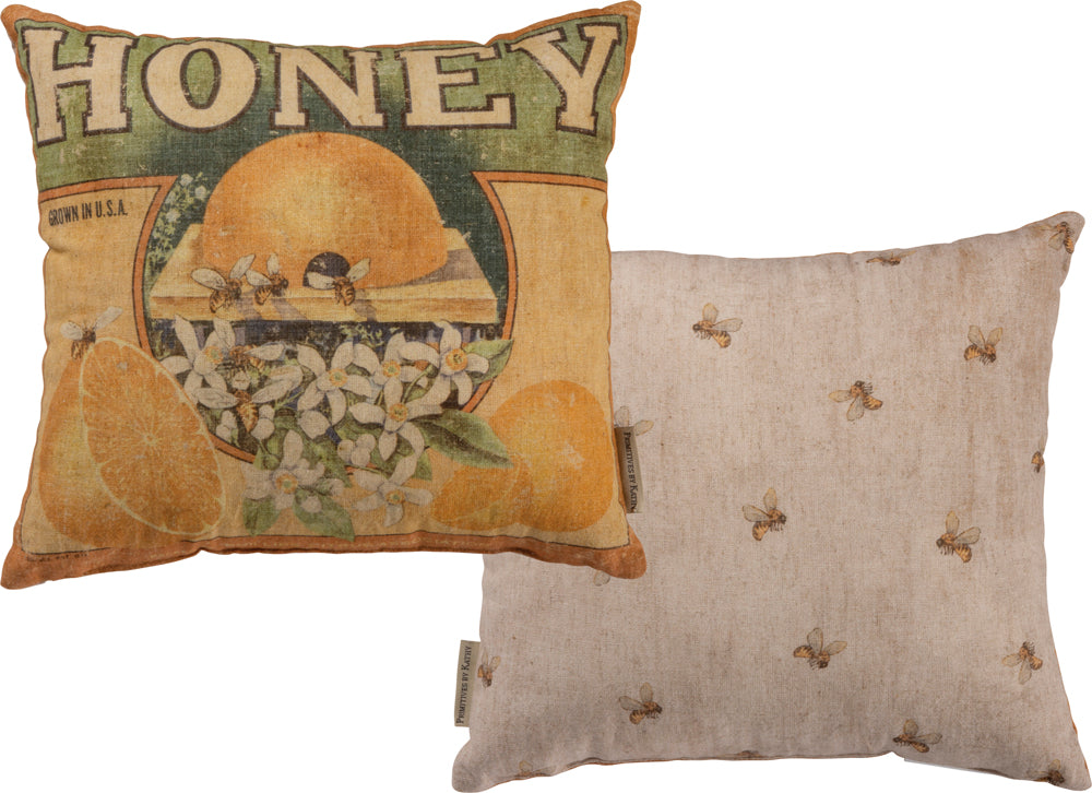 Honey Bee Pillow Insert Included