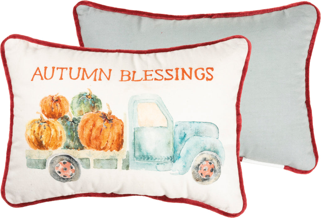 Autumn Blessings Truck Pillow Insert Included
