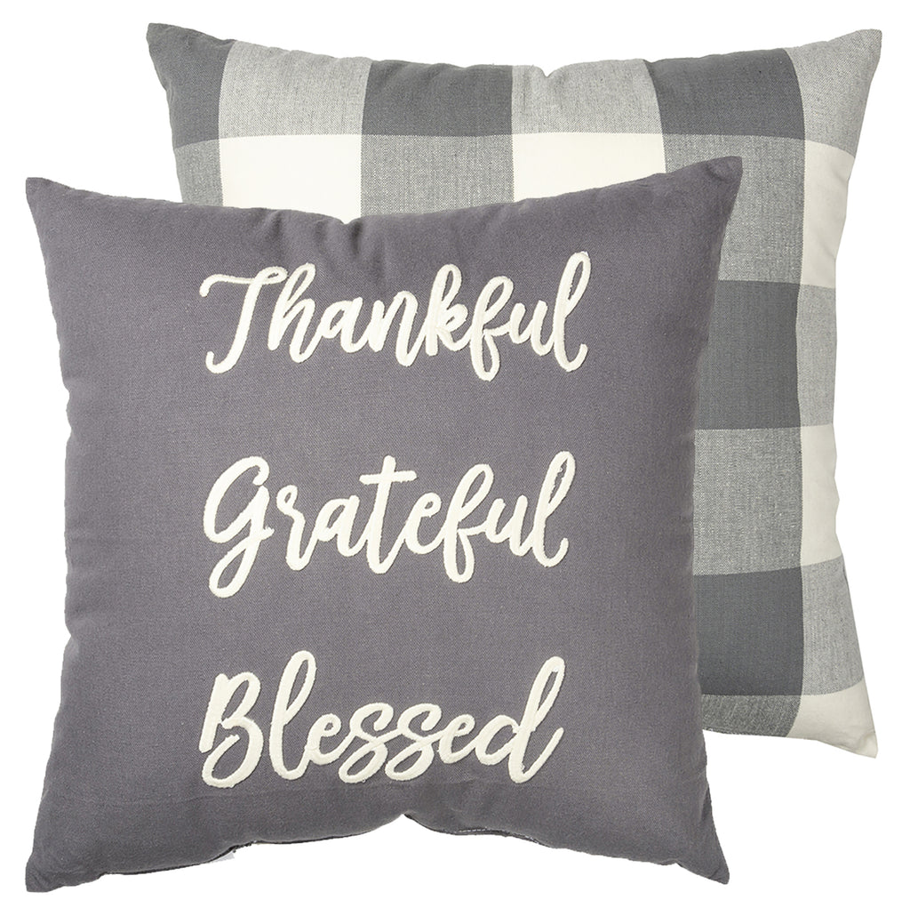 Thankful Grateful Blessed Buffalo Insert Included