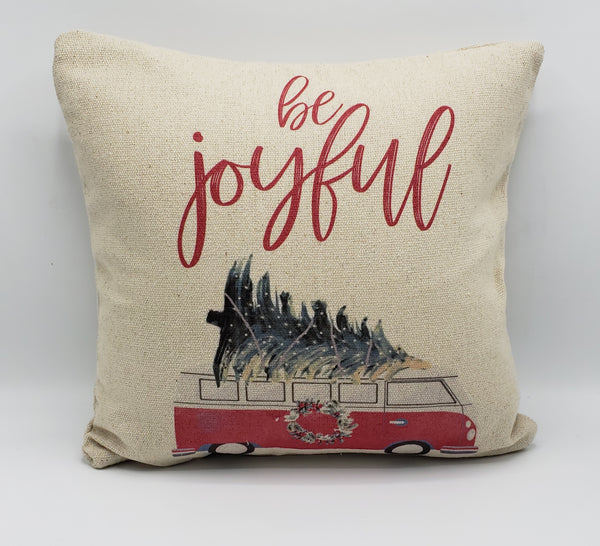 Be Joyful Bus Pillow