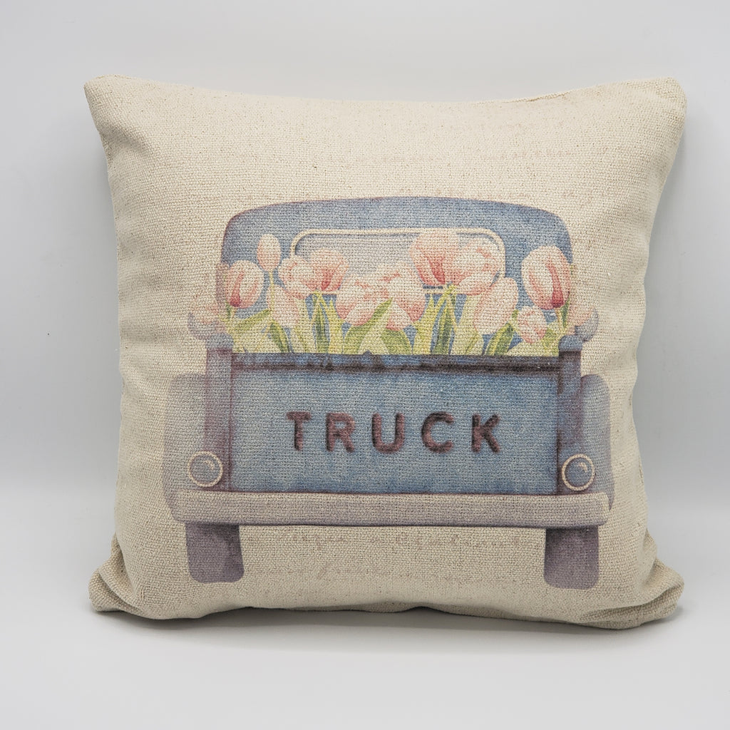 Tulip Truck Pillow
