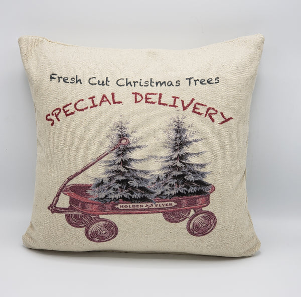 Double Tree Wagon Pillow