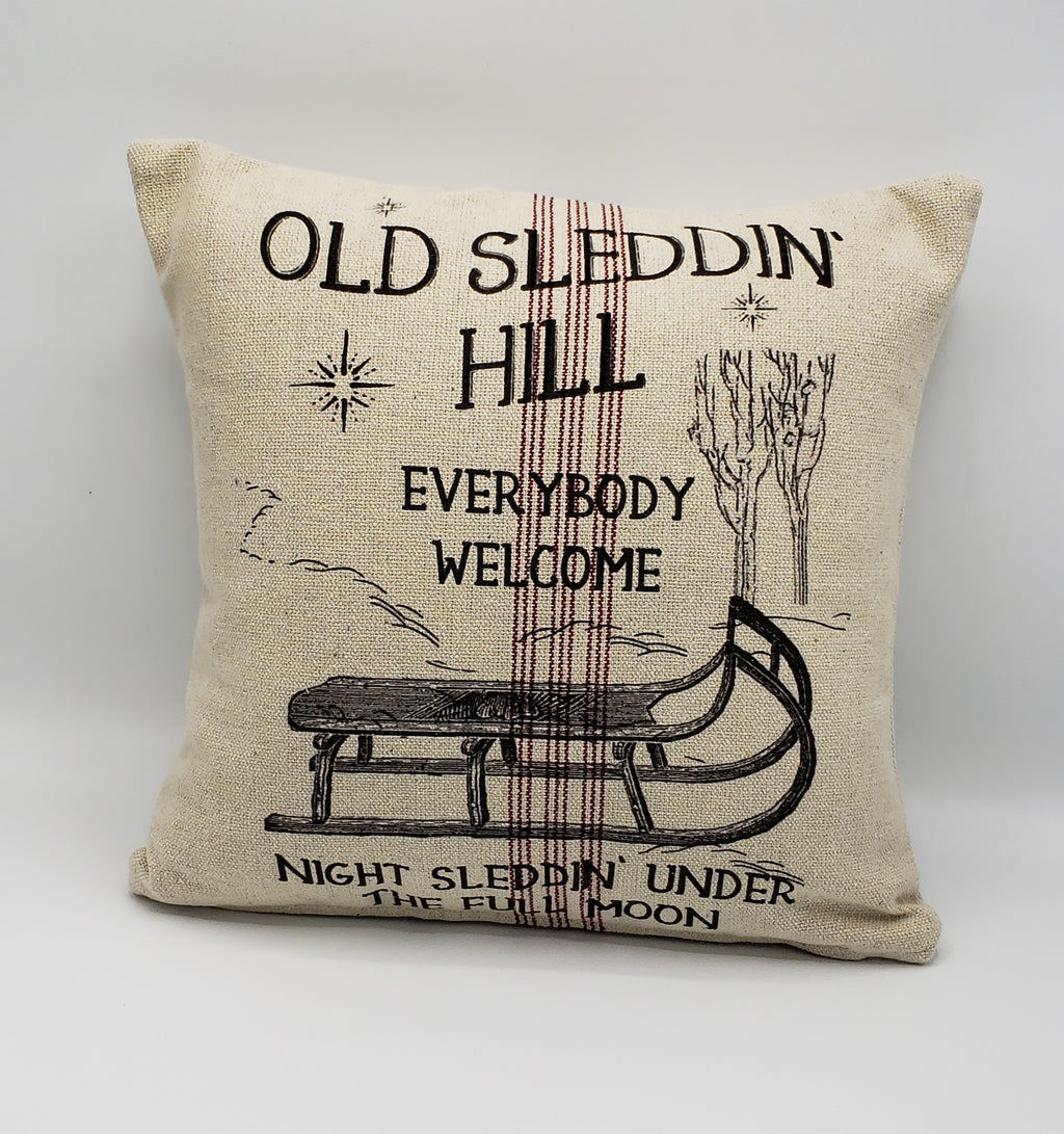 Sleddin Hill Pillow