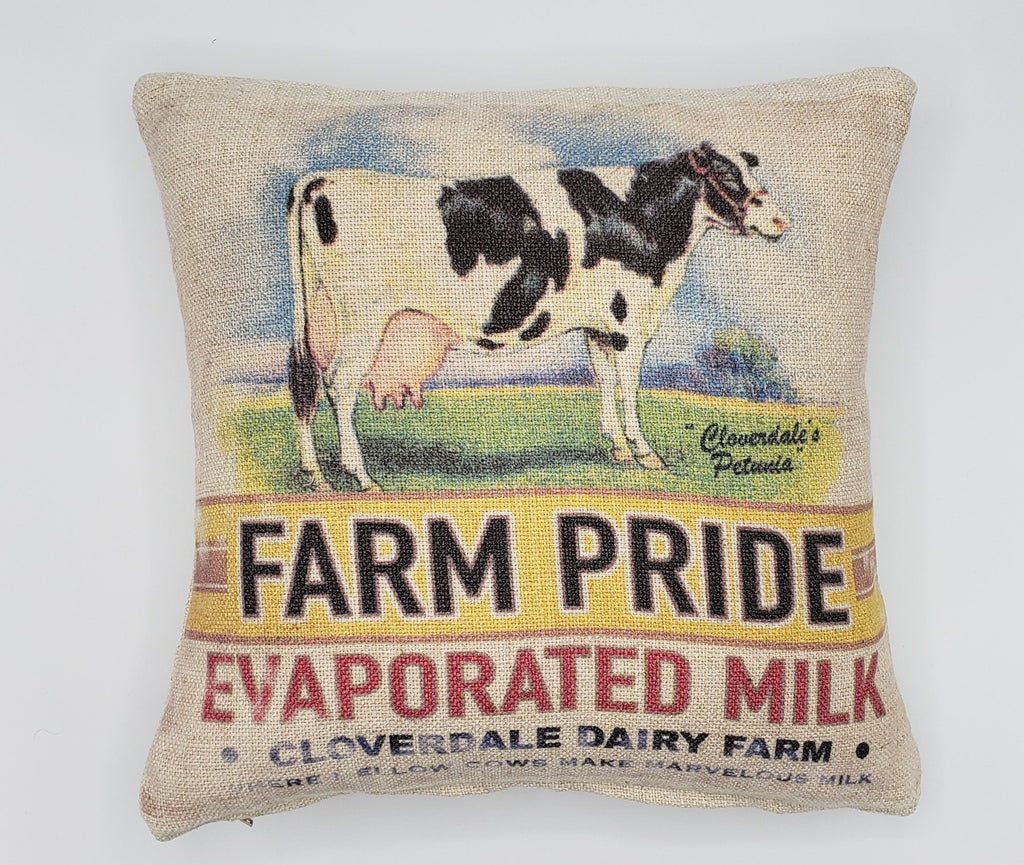 Farmhouse Pride Cow Pillow