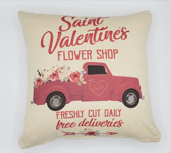 Saint Valentine's Day Truck Pillow