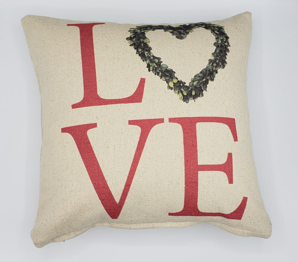 Love Heart Wreath Pillow